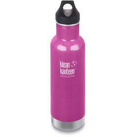 Klean Kanteen Classic Vacuum Insulated Drinkfles Loop Cap 592ml roze